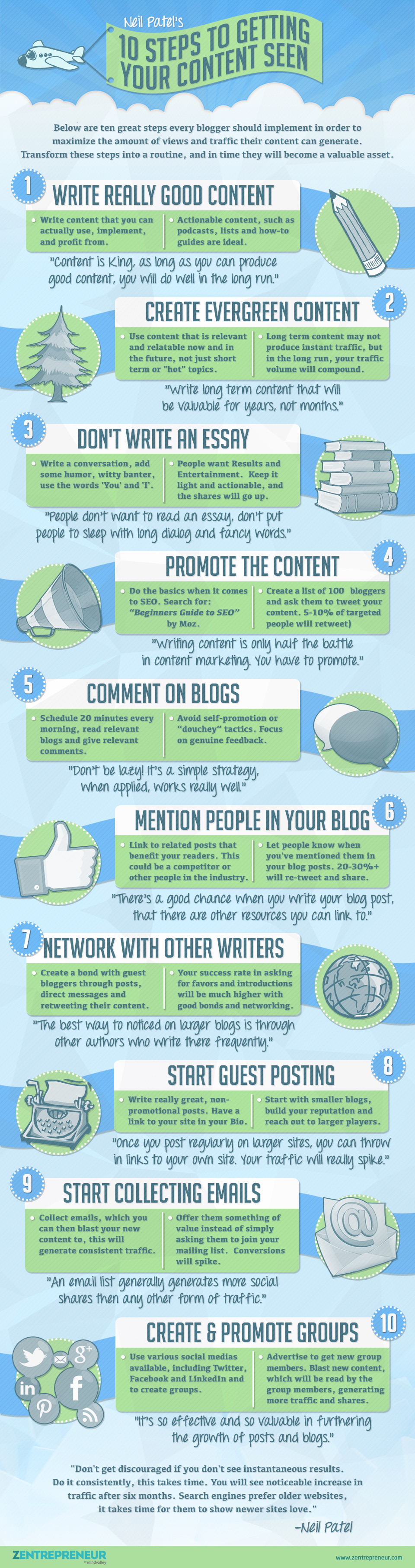 10 steps to getting your content seen - infographic